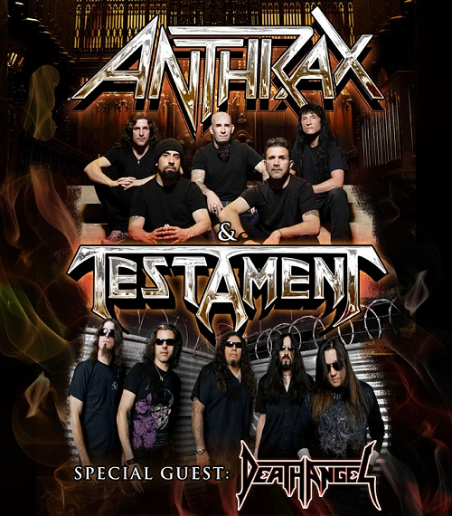 Anthrax-Testament-Death Angel Tour 2012