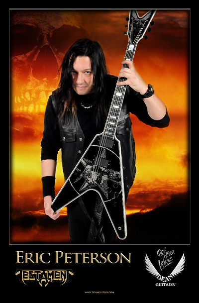 Eric Peterson and his Dean Signature Guitar