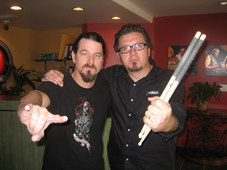 Paul Bostaph and Greg Crane of Yamaha Drums