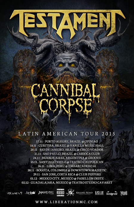 Testament + Cannibal Corpse Latin America Tour