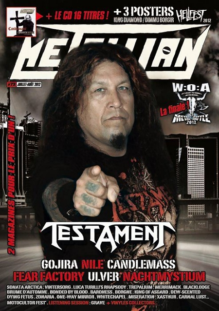 Metallian Magazine, June 2012 cover (France)