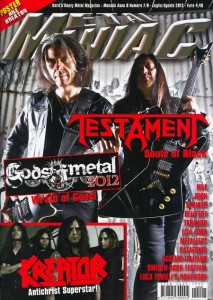 Metal Maniac, July-August 2012 cover (Italy)