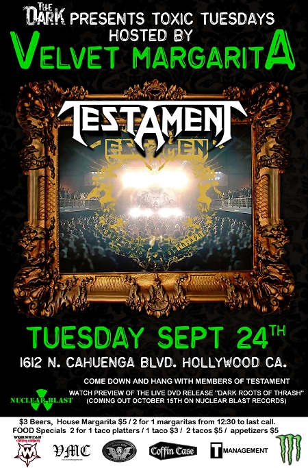 Testament DVD Party flyer