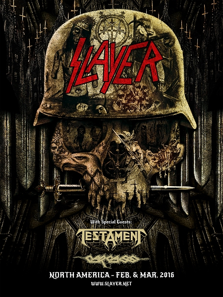 Slayer Testament Carcass Tour 2016