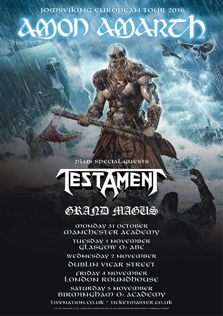 Amon Amarth + Testament