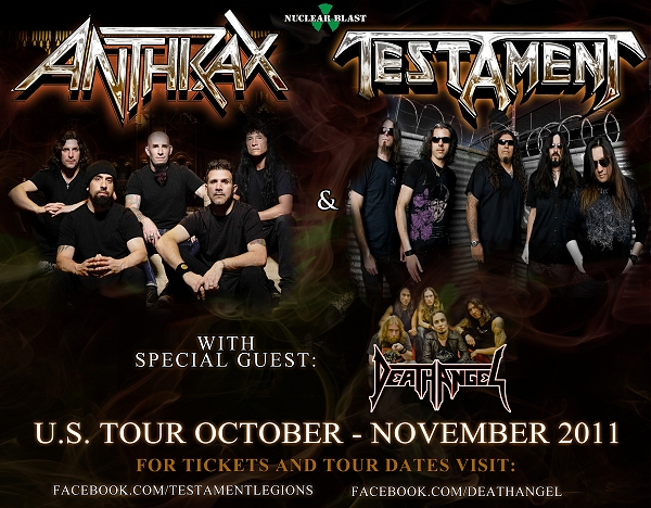 ANTHRAX-TESTAMENT-DEATH ANGEL 2011 flyer