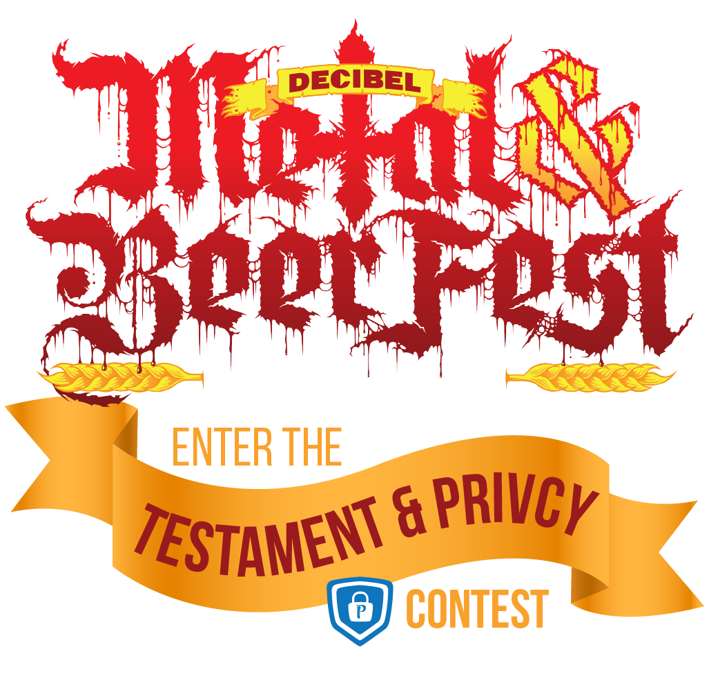 Metal & Beerfest - Enter the Testament x Privcy Contest
